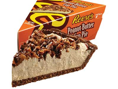 REESE'S®  Crème Pie w/REESE'S® Peanut Butter Cup pieces* - Ind Wedge