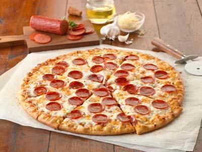 "16"" WG Par-Baked Crust Turkey Pepperoni Pizza"