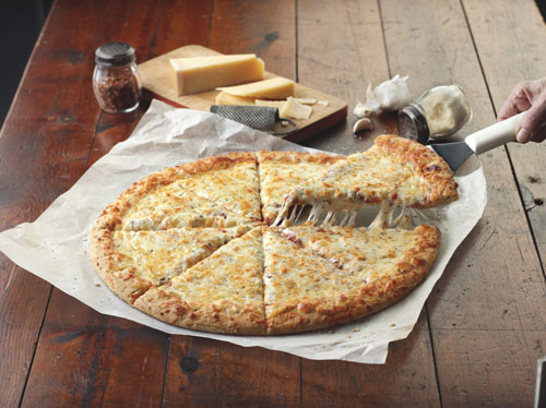 "BIG DADDY'S® Primo 16"" WG Four Cheese Pre-Sliced Pizza - 8-Cut"